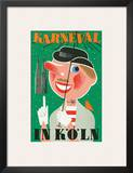 Karneval In Koln: Germany c.1950 Prints by Anton Wolf