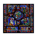 Window Depicting the First Section of Window W7; at the Centre are Relics of the Passion (The… Giclee Print