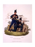 Uniform of British Riflemen (60th and 95th Regiments), from 'Costume of the British Empire,… Giclee Print by Charles Hamilton Smith