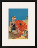 Inviting, Pin Up Girl c.1925 Prints by Gene Pressler
