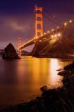 Golden Gate Winter Evening Photographic Print by Vincent James