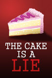 The Cake is a Lie Portal Video Game Plastic Sign Targa in plastica