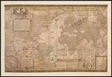 Map of the World Print by Gerardus Mercator