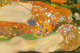 Gustav Klimt Water Snakes Friends II Plastic Sign Plastic Sign