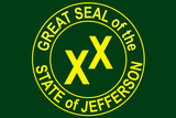 State of Jefferson Official Flag Print Plastic Sign Plastic Sign