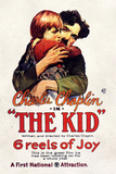 The Kid Movie Charlie Chaplin Jackie Coogan Plastic Sign Plastic Sign