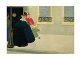 A Walk, C.1895 Giclee Print by Felix Edouard Vallotton