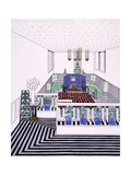Large Balconied Reception Room in Vienna Secession Style, Early 1900s Giclee Print by Leopold Bauer