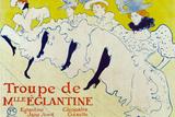 Henri de Toulouse-Lautrec La Troupe de Mlle Eglantine Plastic Sign Plastic Sign