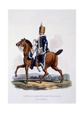 Uniform of a Private of the 18th Light Dragoons (Hussars), from 'Costume of the British Empire,… Giclee Print by Charles Hamilton Smith