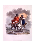 Uniform of Heavy and Light Cavalry Cloaked, from 'Costume of the British Empire, According to the… Giclee Print by Charles Hamilton Smith