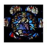 The West Rose Window Depicting a Scene from the Book of Revelation: Christ Enthroned on a Rainbow… Giclee Print