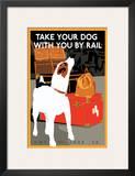 Dog by Rail Prints