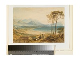Minehead and Dunster Castle, Somerset, C.1818 Giclee Print by J. M. W. Turner