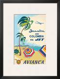 Jamaica & Columbia via Jet Travel c.1960s Posters