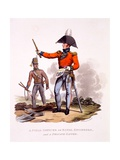 Uniform of a Field Officer of the Royal Engineers and a Private Sapper, from 'Costume of the… Giclee Print by Charles Hamilton Smith
