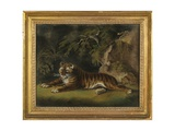 Tiger in a Jungle Landscape Giclee Print by Benjamin Zobel