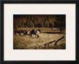 Bring the Horses Home Framed Giclee Print by Jim Tunell