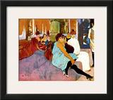 Salon Rue des Moulins Framed Giclee Print by Henri de Toulouse-Lautrec