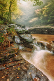 Misty Mountain Creekside, Catskills Photographic Print by Vincent James