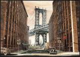 View to the Manhattan Bridge, New York City Prints by Matthew Daniels