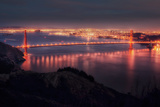 Golden View and San Francisco at Night Photographic Print by Vincent James