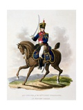 Uniform of an Officer of the 9th Light Dragoons in Review Order, from 'Costume of the British… Giclee Print by Charles Hamilton Smith