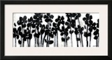 Black Flowers on White II Print by Norman Wyatt Jr.