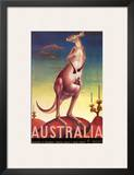 Australia, Airline & Travel Kangaroo c.1957 Prints by Eileen Mayo