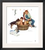 Lickin' Good Bath Art by Norman Rockwell
