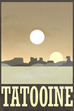 Tatooine Retro Travel Plastic Sign Wall Sign