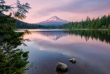 Summer Sunset at Mount Hood Photographic Print by Vincent James