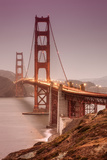 Golden Gate, Smokey Evening Photographic Print by Vincent James