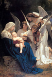 William-Adolphe Bouguereau Song of the Angels Plastic Sign Plastic Sign