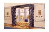 Window Seat Encased by Luxurious Draperies, Early C20th Giclee Print by Richard Goulburn Lovell
