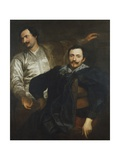 Cornelius and Lucas De Wael Giclée-Druck von Sir Anthony Van Dyck
