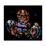 "The West Rose Window Depicting a Scene from the Book of Revelation: Christ with the Four ""Sacred… Giclee Print"