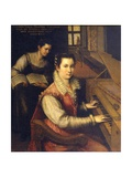 Self Portrait at the Spinet, 1578 Giclée-tryk af Lavinia Fontana