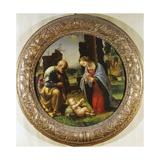Adoration of the Child, C.1499 Giclée-tryk af Fra Bartolommeo