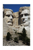 United States. Mount Rushmore National Memorial. Heads of the United States's Presidents Carved… Giclee Print