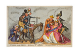 Taming of the Shrew: Katharine and Petruchio; the Modern Quixotte, Or, What You Will, 1791 Giclee Print
