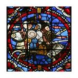 Window W17-L Depicting Adonibezek Scene the Heat of the Battle Giclee Print
