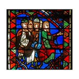 Window W51 Depicting a Scene from the Life of St Catherine: the Philosophers Gather to Condemn Her Giclee Print