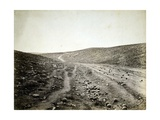 Valley of the Shadow of Death, Crimea, 1855 Giclee Print by Roger Fenton