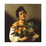 Boy with a Basket of Fruit, 1594 Giclee Print by Michelangelo Merisi da Caravaggio