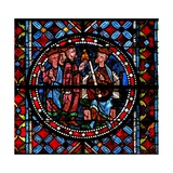 Window W102 Depicting the Magi with Herod Giclee Print