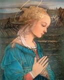 La Vergine in Adorazione 高品質プリント : フラ・フィリッポ・リッピ