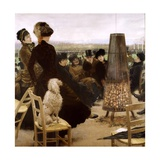 Racecourse at the Bois De Boulogne Giclee Print by Giuseppe De Nittis