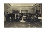 Foto Ak Prinz Eugenio Von Savoy, Lucia Von Kalabrien, Hochzeit Reproduction photographique