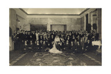Foto Ak Prinz Eugenio Von Savoy, Lucia Von Kalabrien, Hochzeit Photographic Print